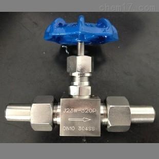 j23w-160r 不锈钢316外螺纹套管焊接针型截止阀
