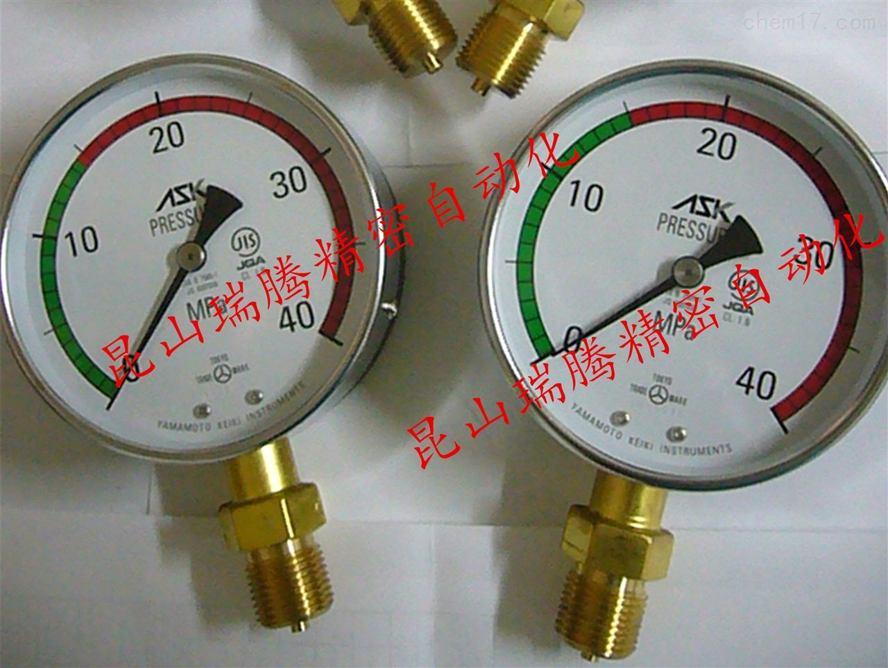 工业MRO配件ASK耐振压力表 AK-1/2-100x35MP-GR15东芝压铸机专用