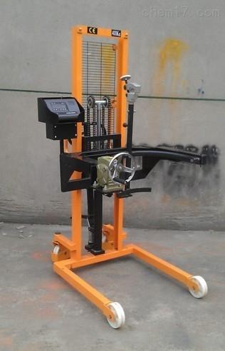 油桶翻转倒料电子秤(上海工厂300kg倒料车秤)