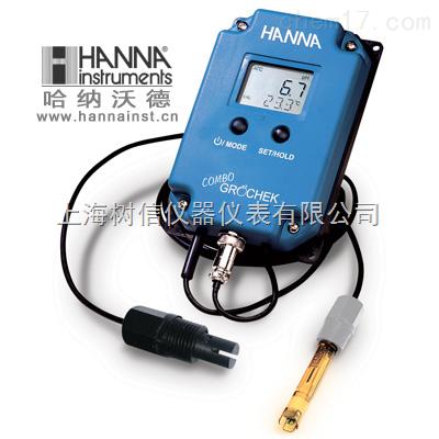 哈纳HI991405高量程微电脑pH-EC-TDS-℃连续测定仪