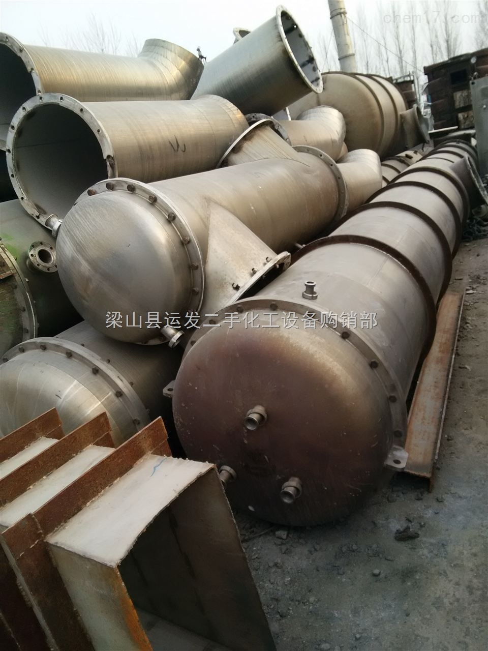 低价销售二手20吨四效降膜蒸发器
