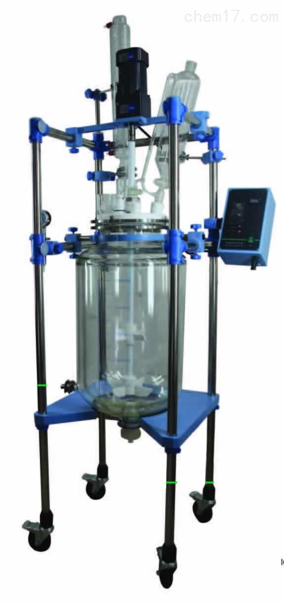 双层玻璃反应釜 JR-S100 100L 反应盖可选 可定制产品