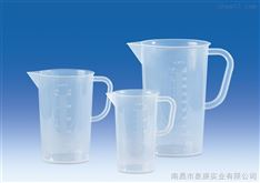进口塑料带把刻度烧杯VITLAB德国进口PP凸起刻度烧杯