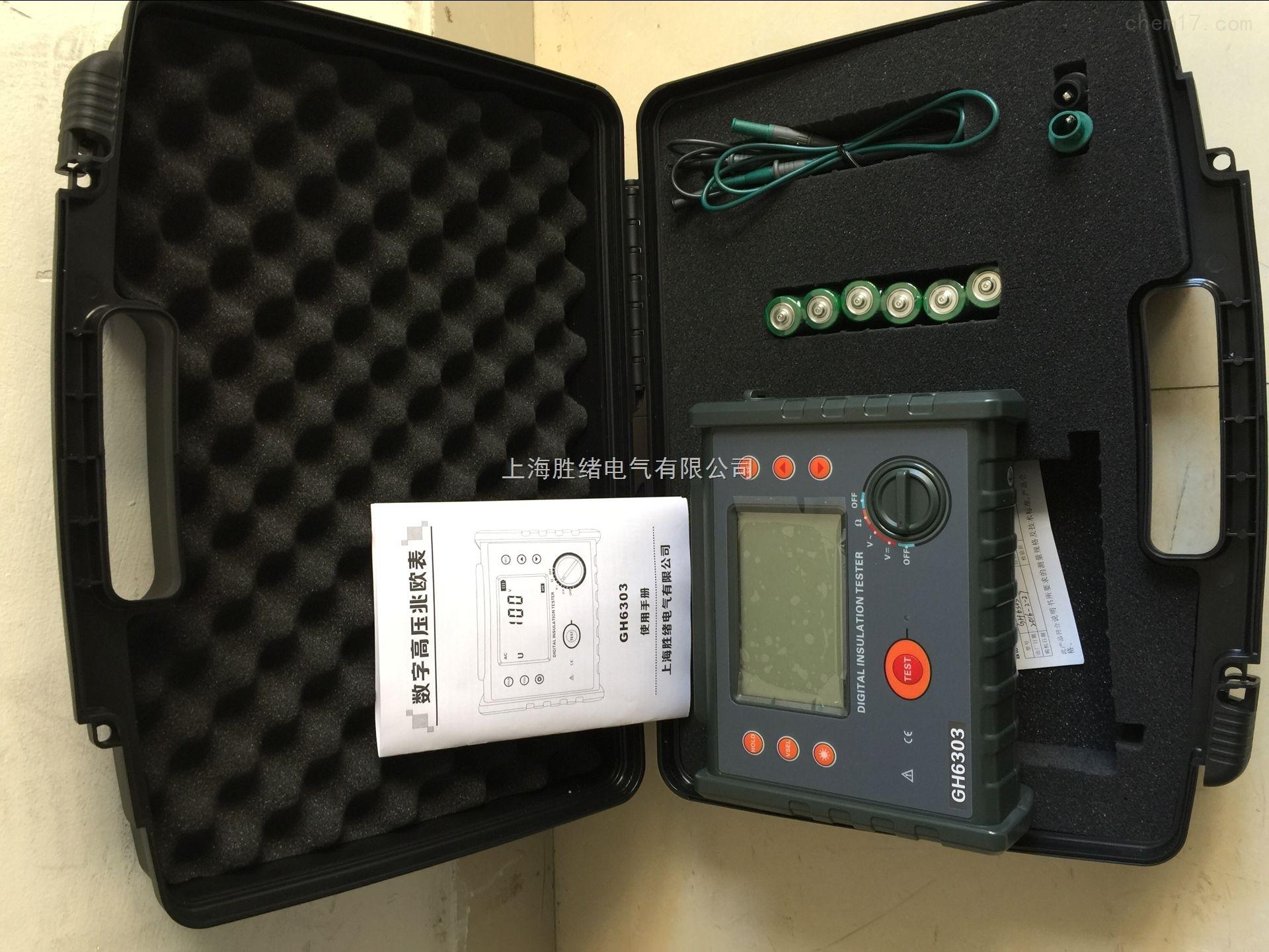 SX3025E高压绝缘电阻表