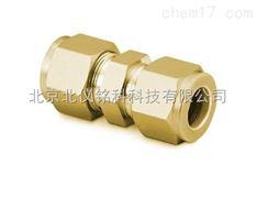 黄铜1/8英寸黄铜双卡套直通接头黄铜三通铜接头气路铜接头铜三通