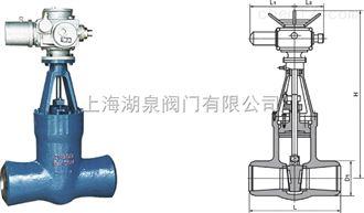 高温高压对焊电动闸阀