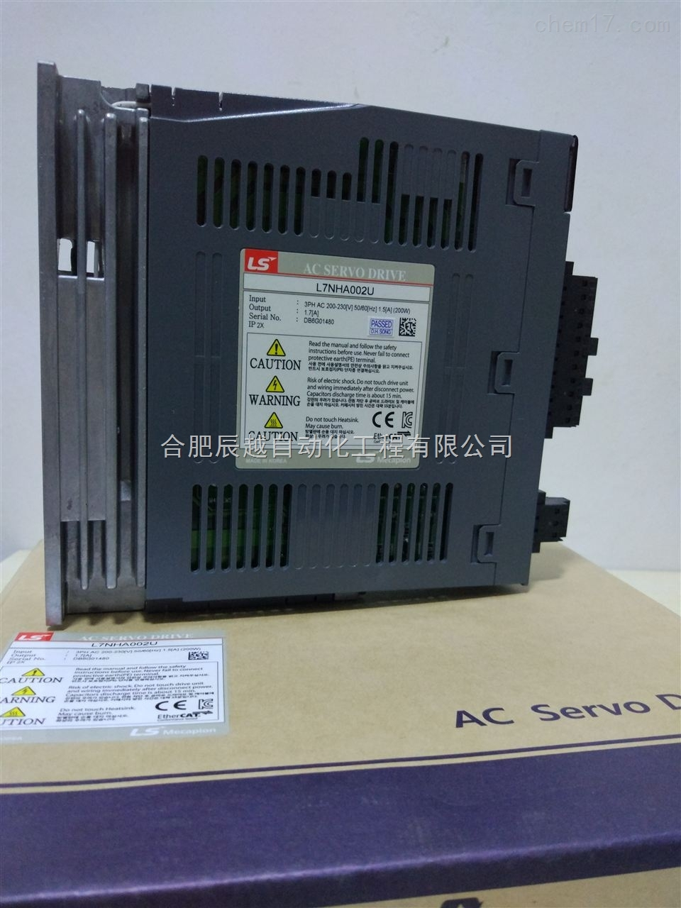 L7NHA020U/Ether通讯型2KW韩国LS迈克彼恩伺服电机控制器