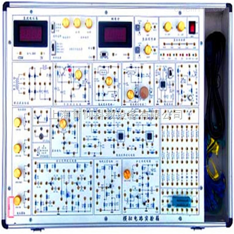YUY-A2模拟电路实验箱教学实验箱是以《高等工业学校电子技术基础课程教学基本要求》中确定的教学实验要求为基础,包括了《模拟电子技术基础》课程全部实验内容,是专为各大专院校、中等专业学校和电大、职大等学生学习电子技术、电子线路等课程开发的zui新型实验设备。 一、YUY-A2模拟电路实验箱教学实验箱主要特点 实验箱中的实验电路采用单元电路方式设计,单元电路即基本实验电路,再外接其他元件为该电路参数,或与其他的单元电路组合,完成不同的实验要求。每个实验的电路原理图都印刷在实验板表面,学生可按照各个实验的