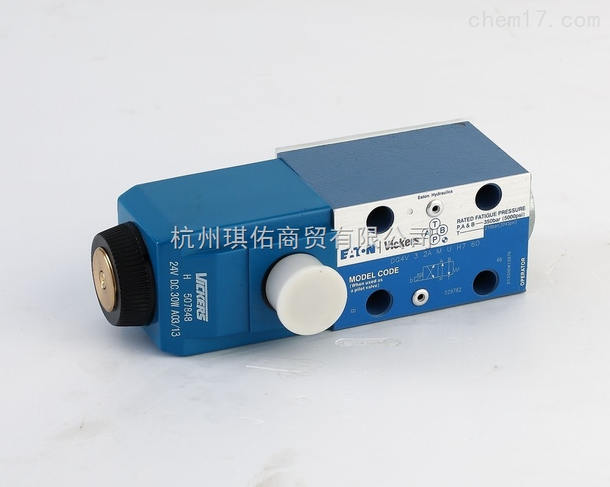 美国威格士电磁阀@进口VICKERS电磁阀总代DG4V-5-2A-M-U-EH6-20