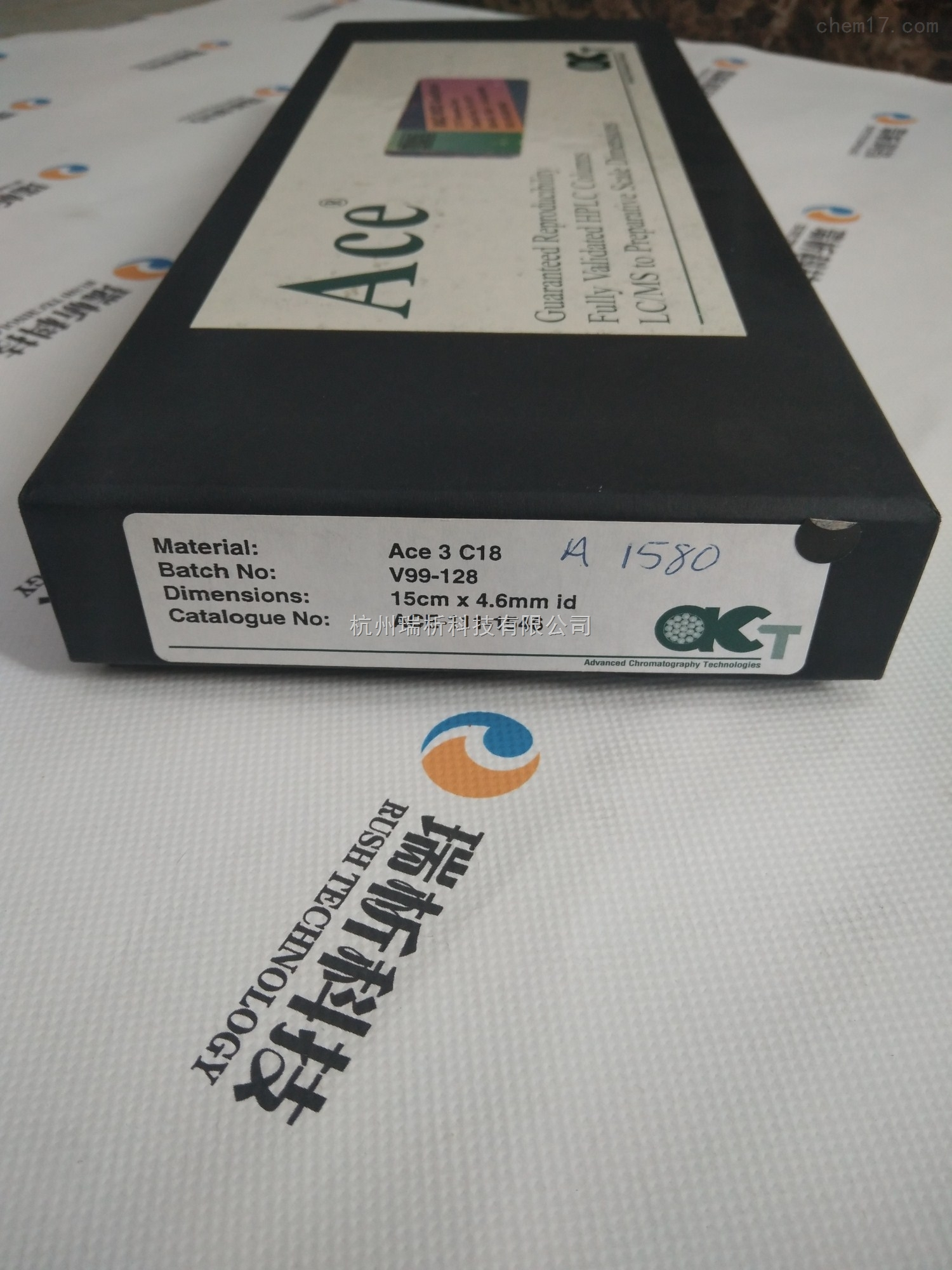 ace-111-1546色谱柱液相色谱柱dimensions   15cm   4.6mmid   catalogue