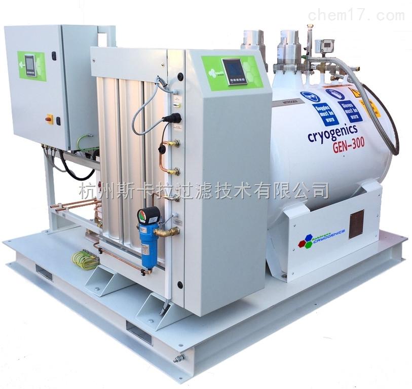 130升每天撬装式液态氮制备系统