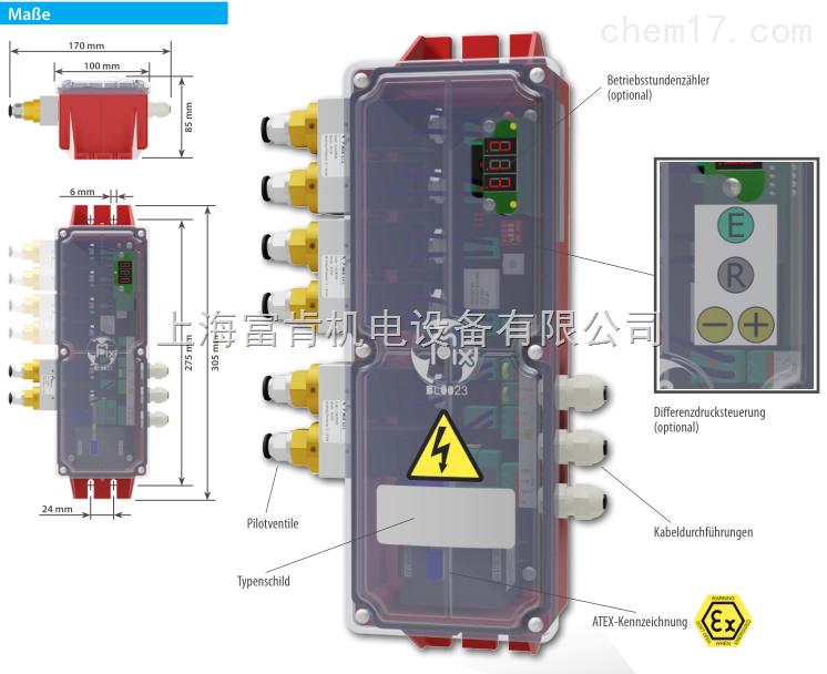 意大利mixsrl A-KQK02K5 设备清灰循环控制盒