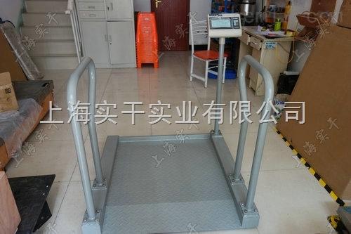 300kg碳钢轮椅秤|凯士透析轮椅体重秤带打印