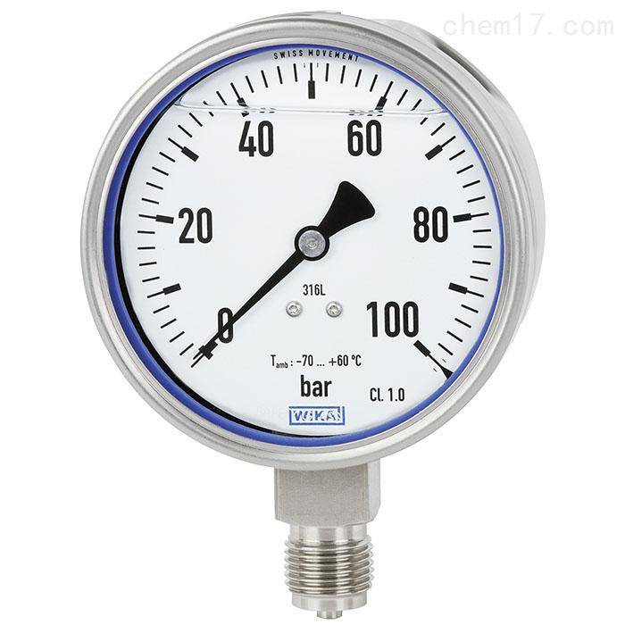 德国WIKA威卡不锈钢材质波登管压力表