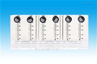 铝厂专用6联排有机玻璃面板流量计_定制铝冶炼专用有机玻璃流量计厂家