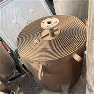 销售二手100平方不锈钢螺旋板换热器