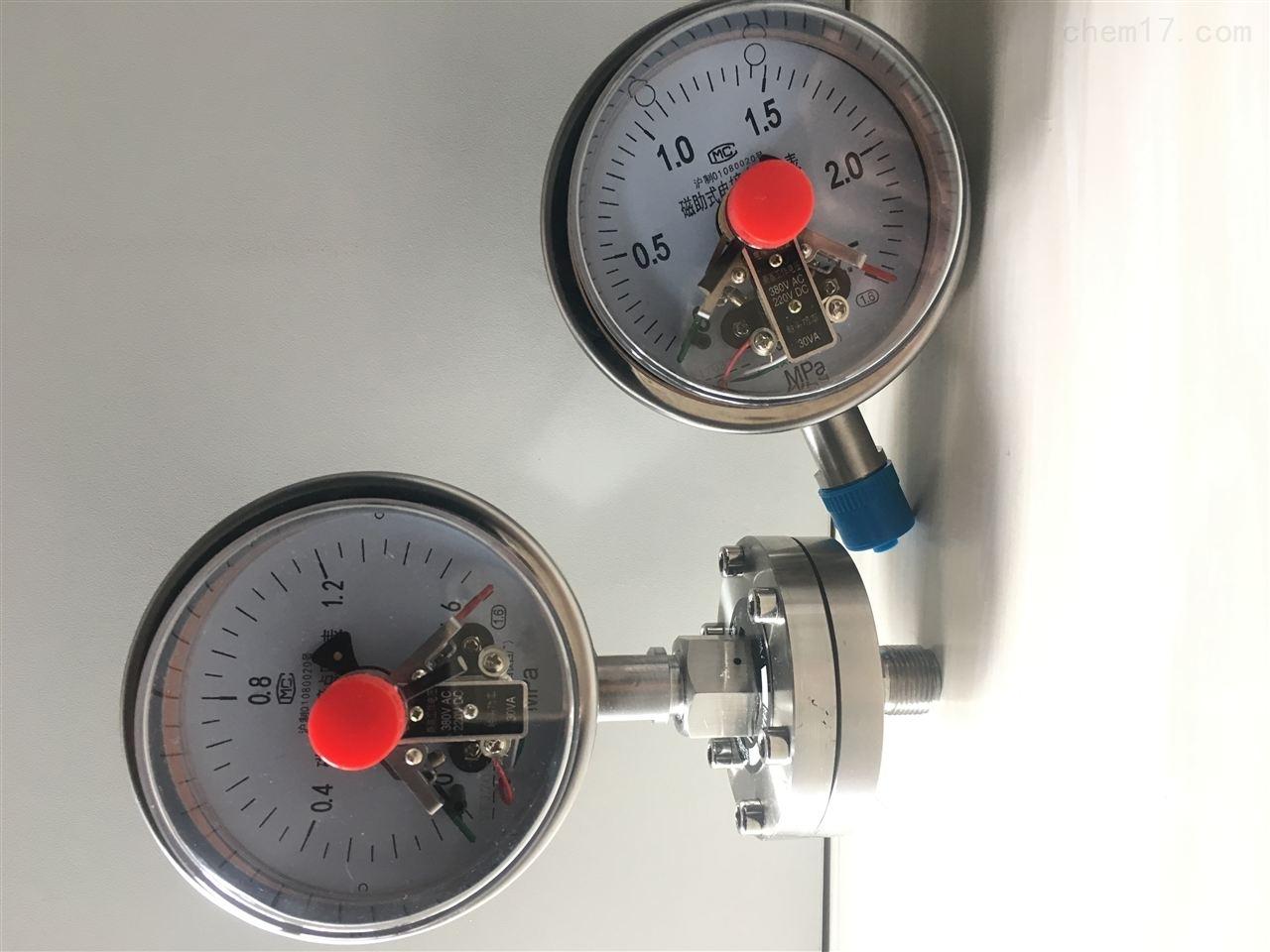 YXC-100B磁助电接点压力表