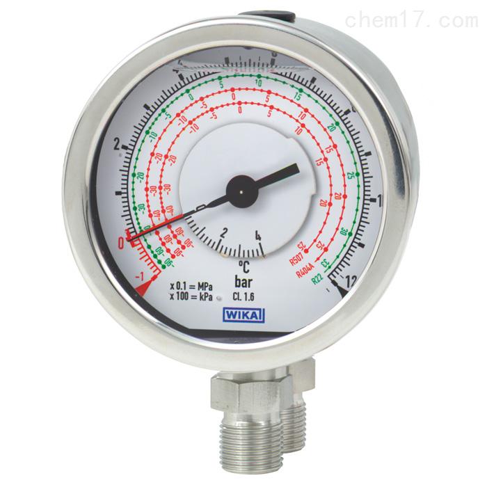 德国WIKA威卡适用于制冷技术不锈钢差压表