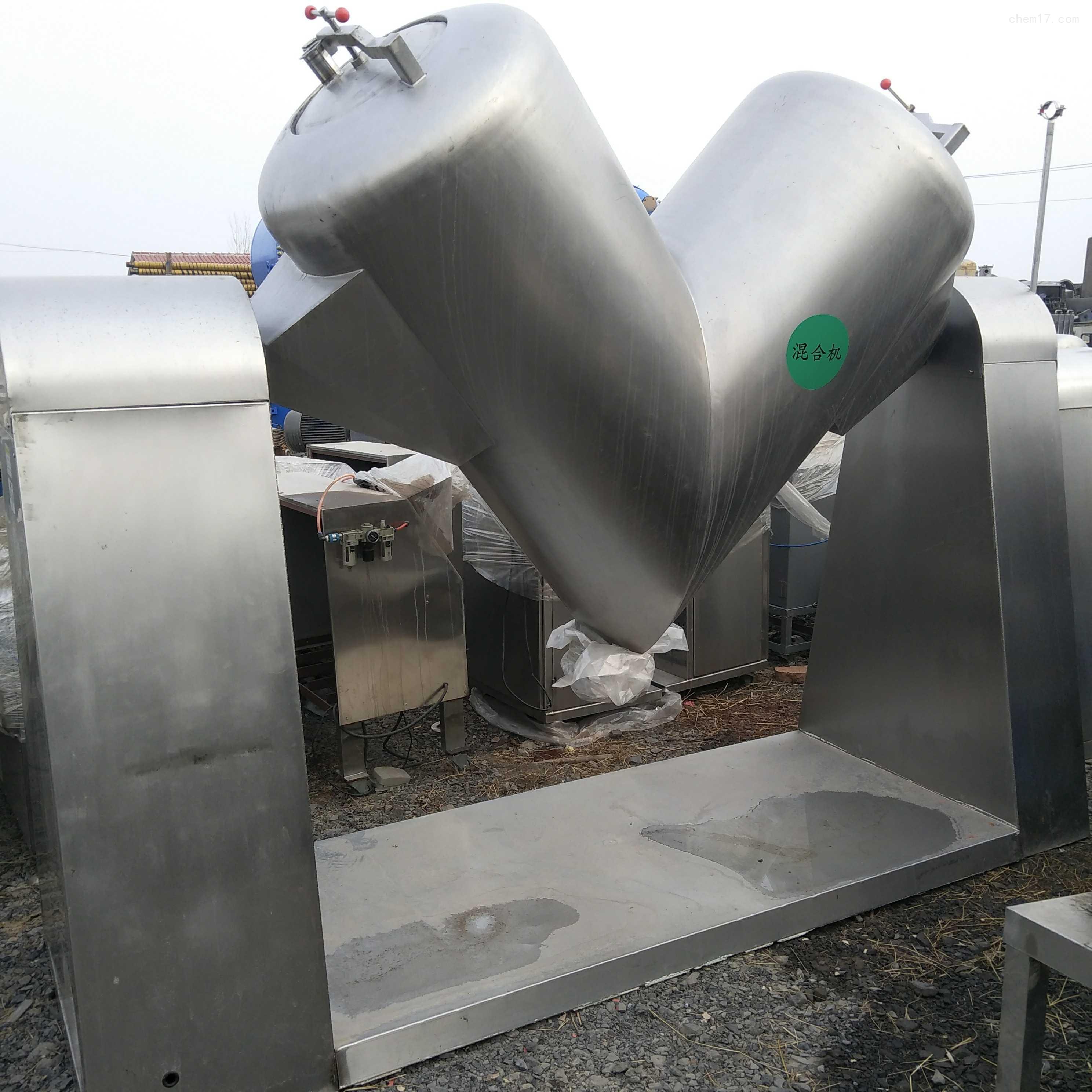 回收二手V型槽型三维运动高效混合机厂家