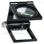 10倍三折式帶光源帶刻度放大鏡,照布鏡
