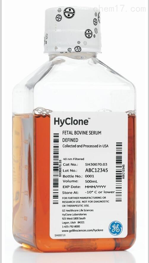 HycloneSH30068.03HI活性炭/葡聚糖处理胎牛血清热灭活Charcoal Stripp