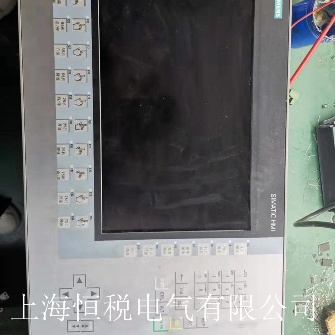 西门子触摸屏启动一直卡在开机画面不动维修