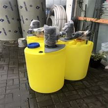 MYJY-100L100升单桶单泵带电机一体化浓硫酸加药装置