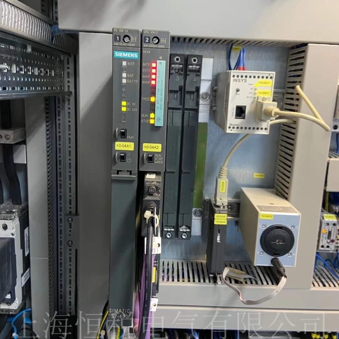 西门子CPU414上电指示灯全部一直闪烁修复