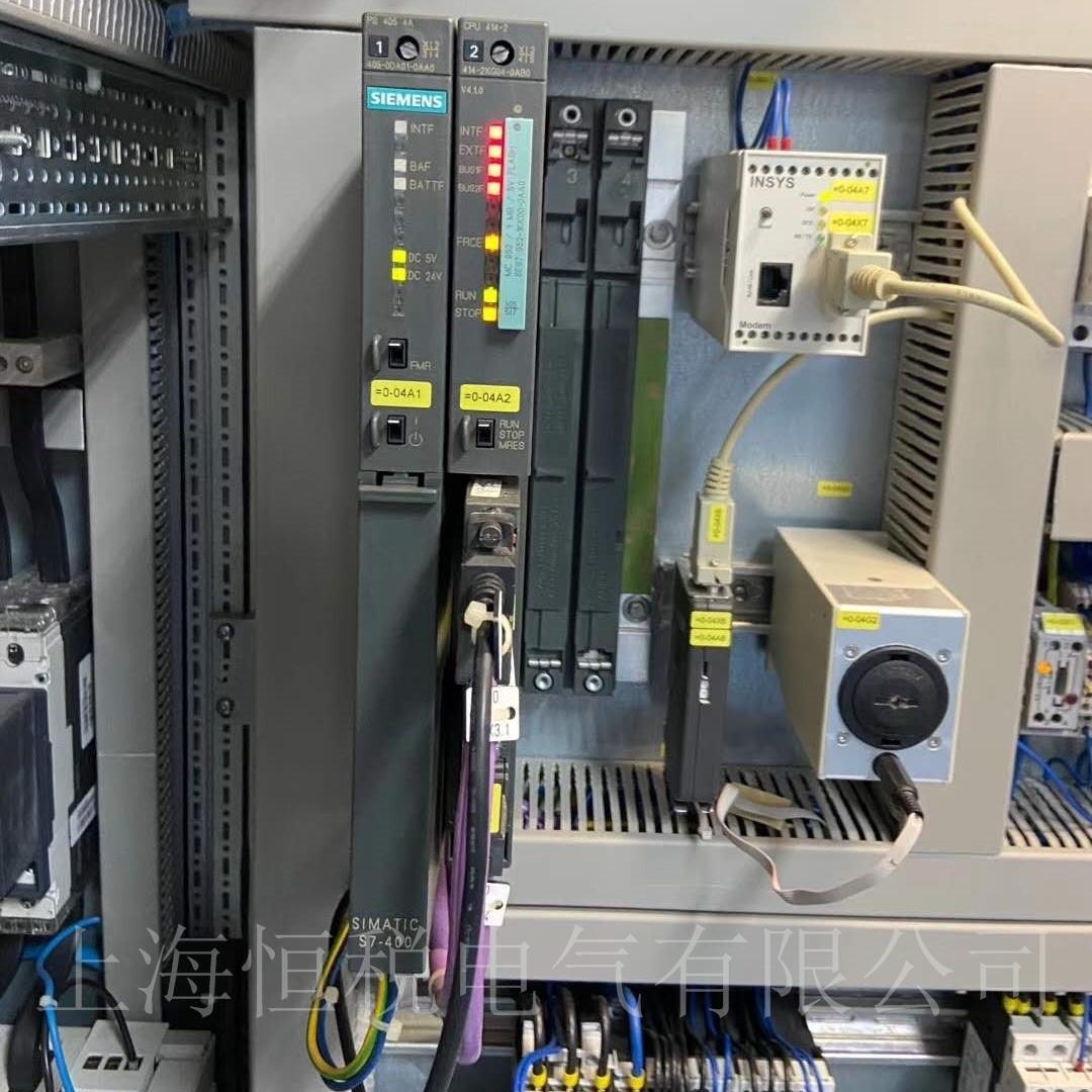 西门子CPU414启动所有灯全闪解决方法