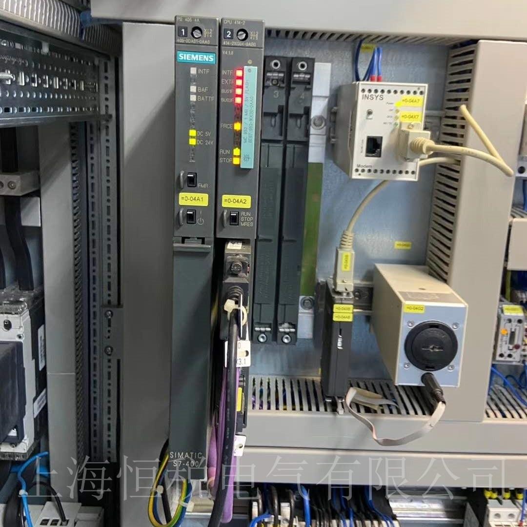 西门子PLC412开机所有灯全部不亮故障修复