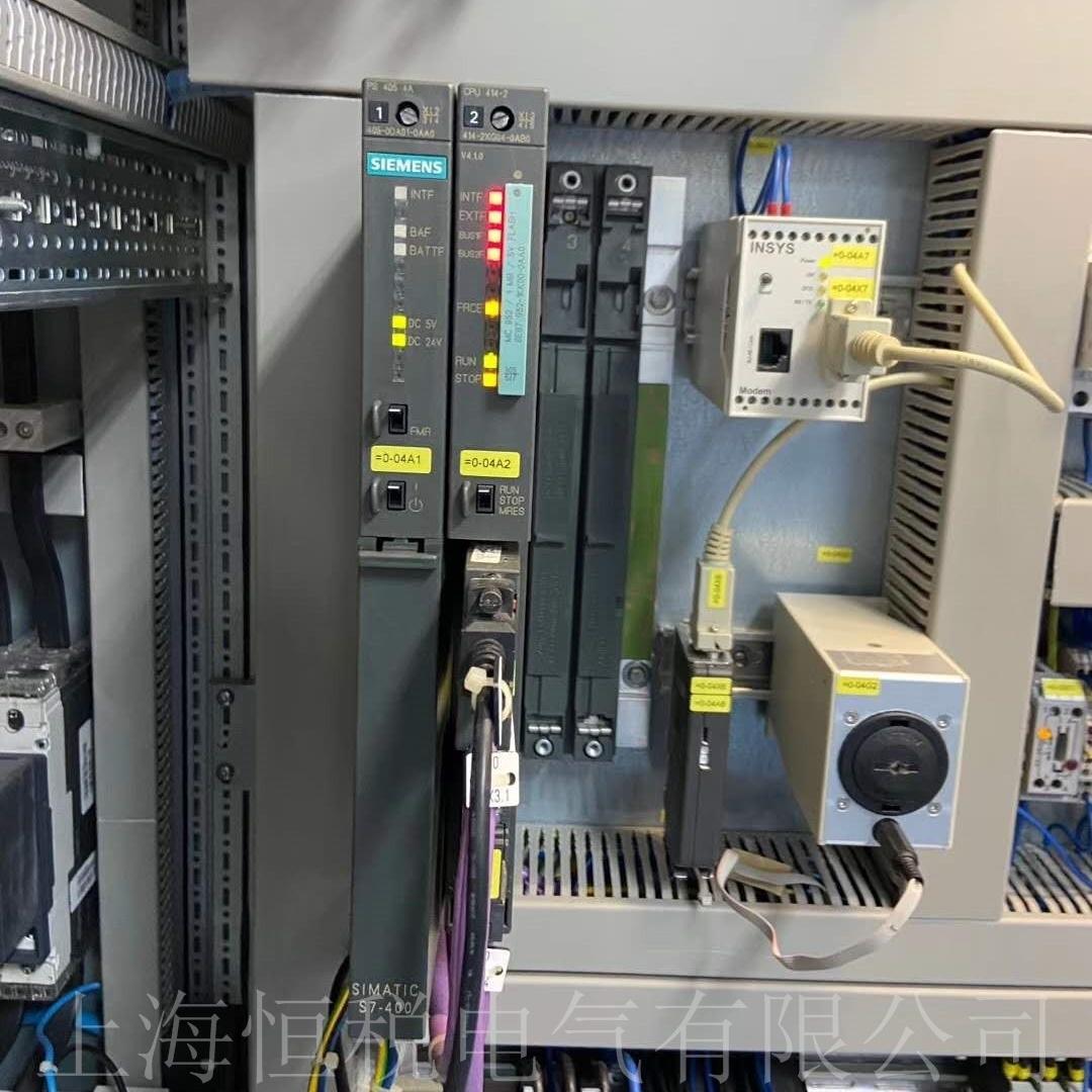 西门子PLC412上电所有灯全亮/全闪烁维修
