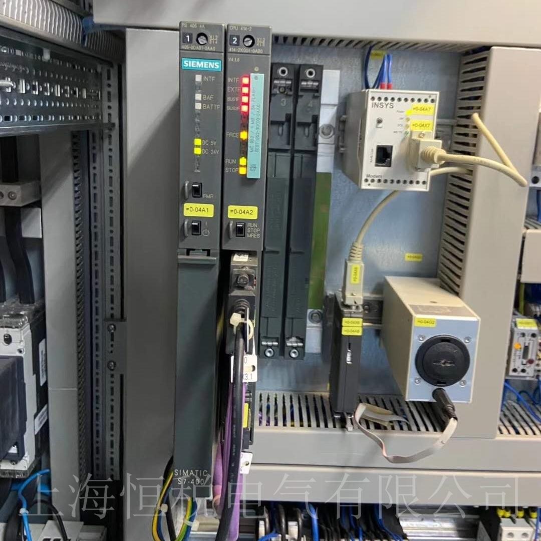 西门子PLC412启动所有灯全亮/全闪烁修理