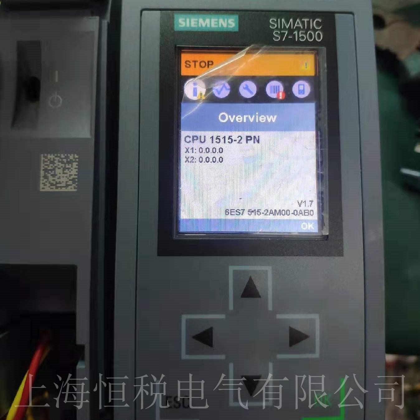 西门子CPU模块S7-1500启动面板无显示维修