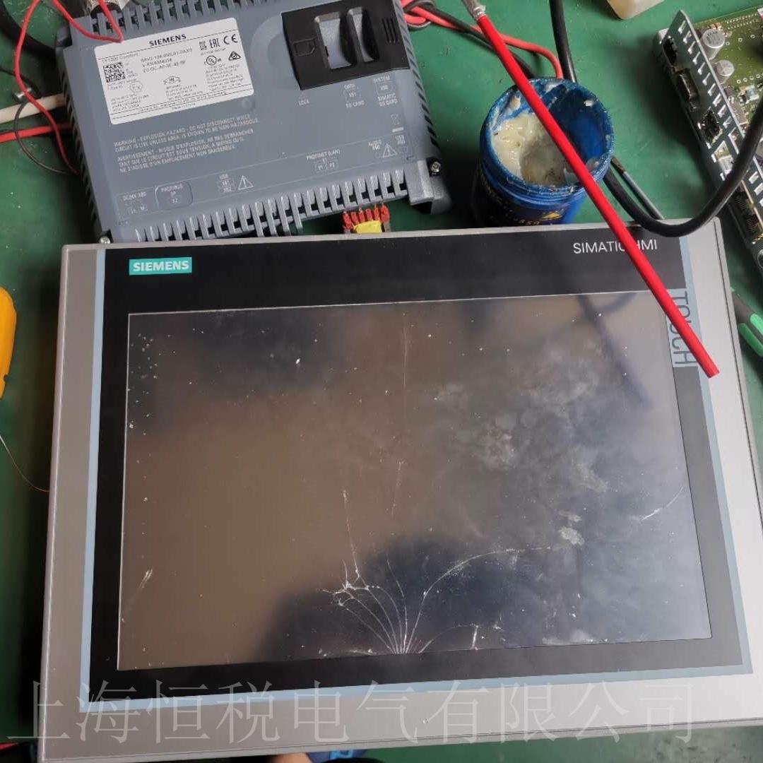 西门子触摸屏开机启动屏幕无显示维修方法
