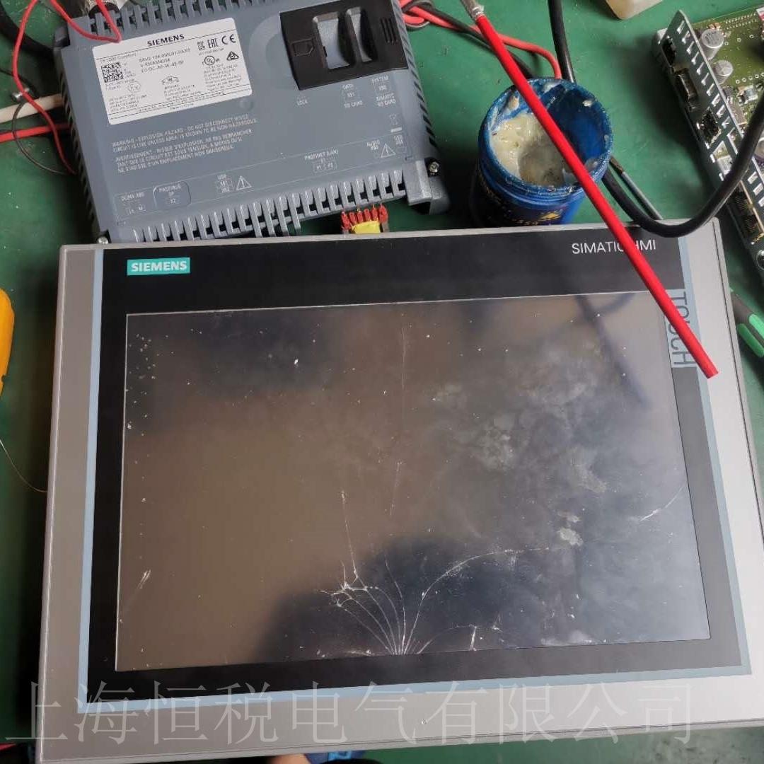 西门子触摸屏上电显示白屏专业维修十多年