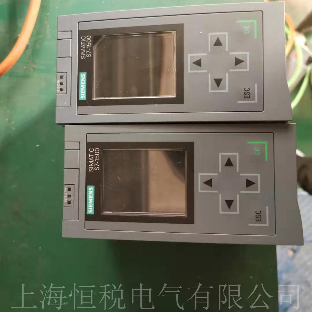 西门子S7-1500PLC开机面板菜单无显示修理