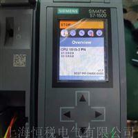 西门子S7-1500CPU主机开机面板无显示修理