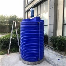 2吨加药桶带搅拌机次氯酸钠搅拌碳钢帽子