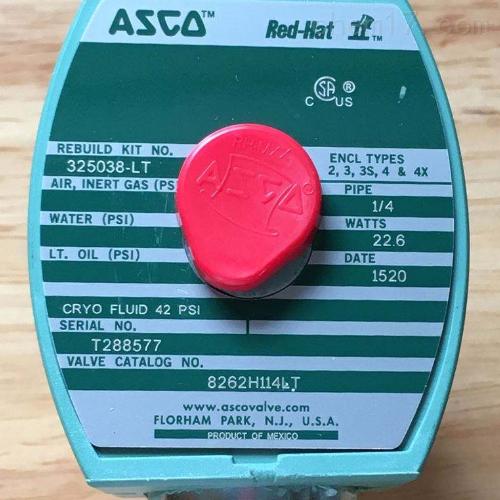 美国ASCO三通电磁阀EF8262G148厂家报价