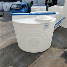 3000升PAC溶解加药桶带搅拌机配碳钢帽子