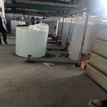 8000升电镀加药搅拌桶耐腐蚀带龙门支架徐州