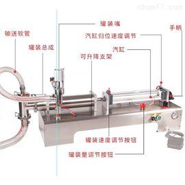 计量卧式橄榄油液体自动灌装机500ml