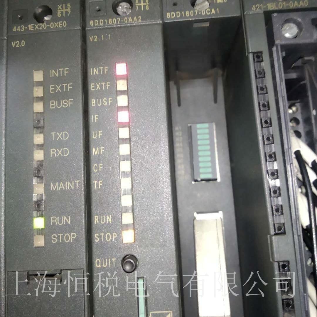 西门子PLC模块6DD1607所有灯全亮原因分析