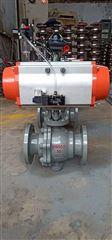 Q647F-16C-100軟密封氣動固定式球閥