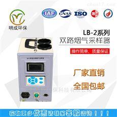 青岛路博LB-2智能双路烟气采样器自带消音器