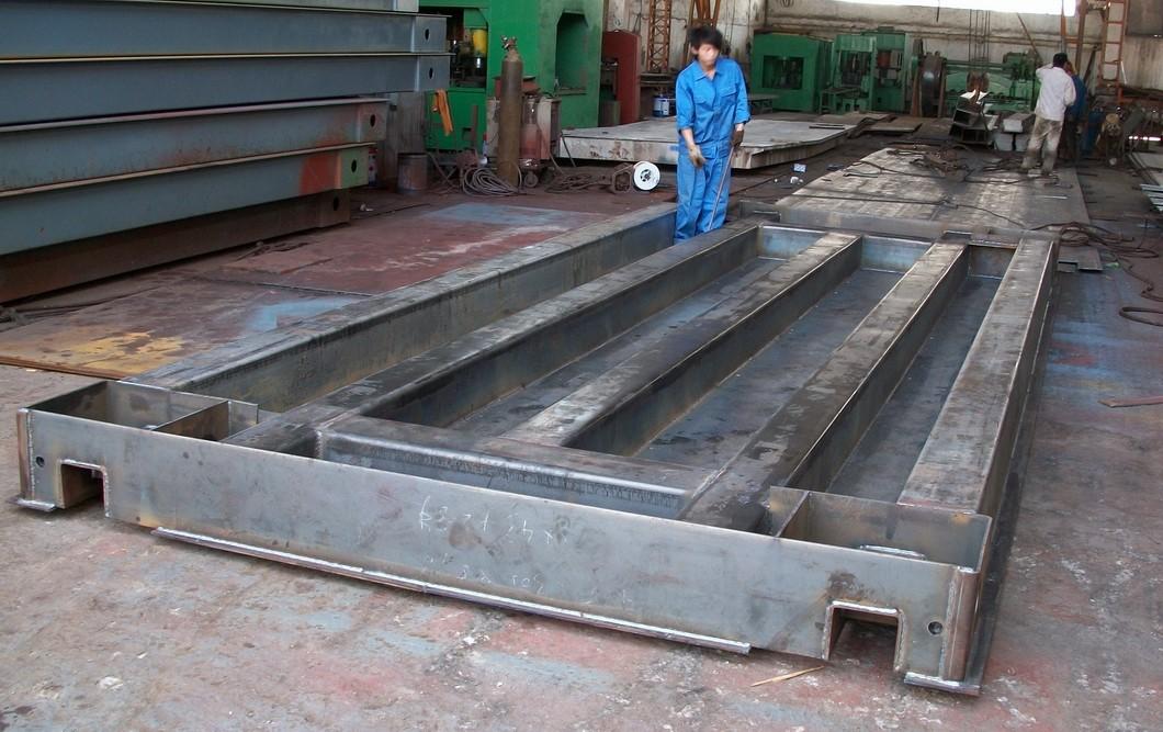 100吨地磅采用u型钢结构的好处及市场需求!