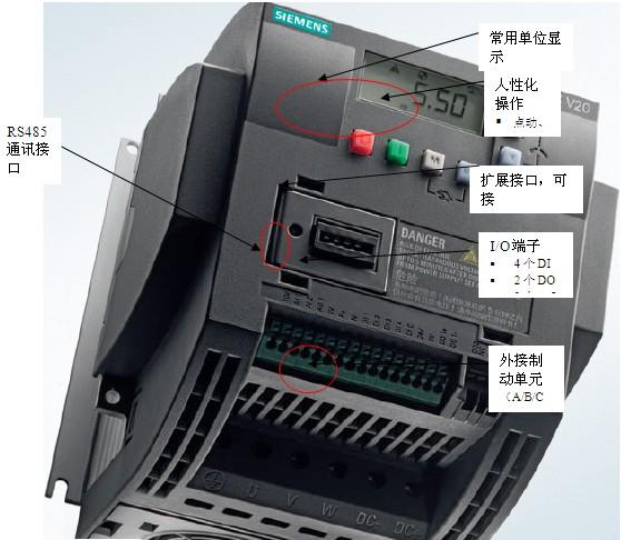 mm420型变频器 单相/三相 220--240v 无内置滤波器