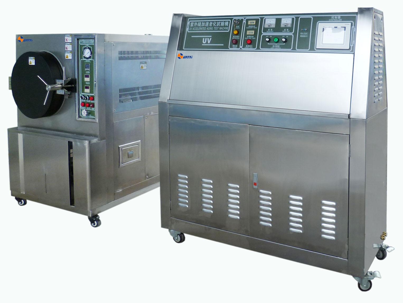 UV紫外线老化箱是一种常用的实验箱类型,适用于非金属材料的耐阳光和人工光源的老化实验。紫外线加速老化箱在使用过程中会受到一些环境影响,那么紫外光老化箱的环境影响因素有哪些呢? 1、箱内温度 照射阶段或停照阶段,箱内温度应规定的试验程序(A、B或C)加以控制,有关规范应按设备或元件的预定用途规定在照射阶段需达到的温度+40度或+55度。 2、气流速度 靠近样品表面的气流速度大小除影响样品的升温外,甚至还使监控辐射强度的开启式温差电堆出现显著误差。一般1m/s的速度导致温差电堆的温升量减少20%以上。可见在有
