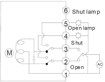 开关型带有源灯指示信号接线图