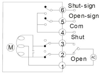 开关型带无触点信号反馈接线图